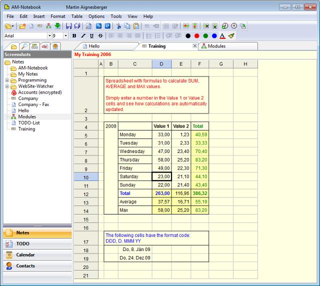 AM-Notebook Pro screenshot